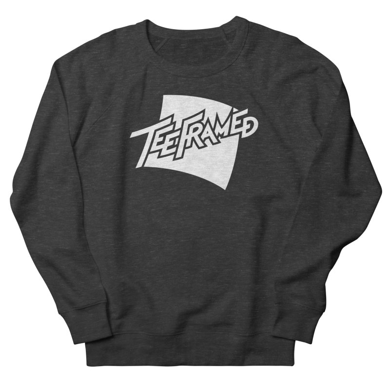 Teeframed - White Logo Women's French Terry Sweatshirt by Teeframed