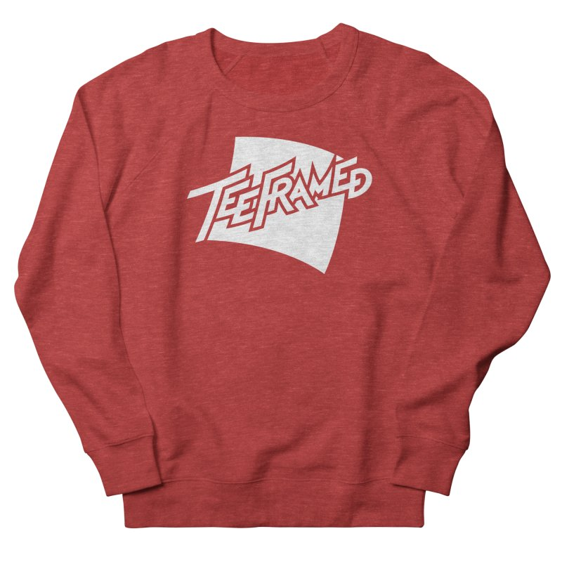 Teeframed - White Logo Women's Sweatshirt by Teeframed