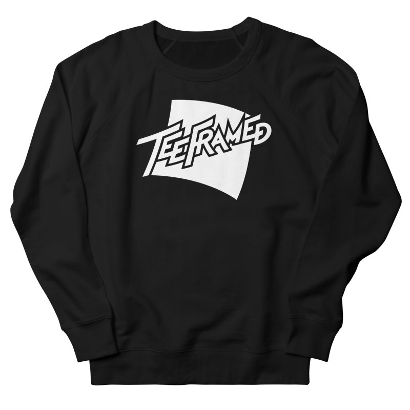 Teeframed - White Logo Women's French Terry Sweatshirt by Teeframed