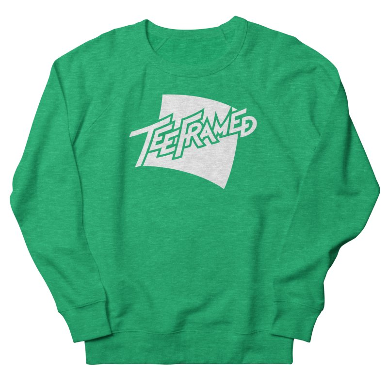 Teeframed - White Logo Men's French Terry Sweatshirt by Teeframed
