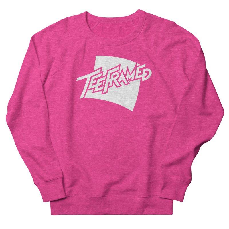 Teeframed - White Logo Men's French Terry Sweatshirt by Teeframed