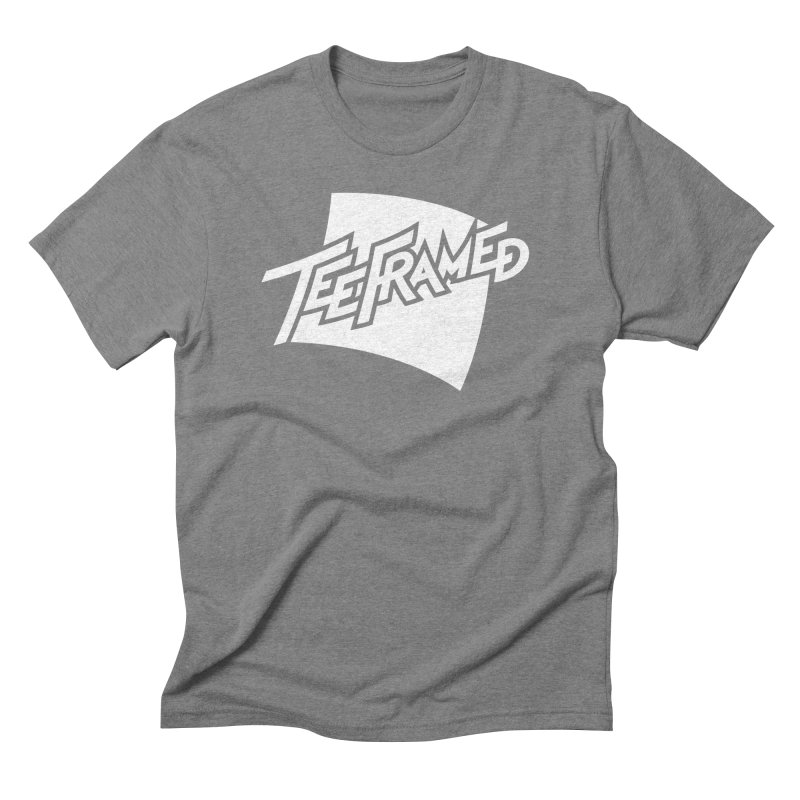 Teeframed - White Logo Men's Triblend T-Shirt by Teeframed