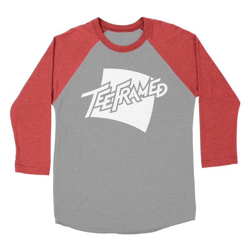 Teeframed - White Logo Women's Baseball Triblend T-Shirt by Teeframed