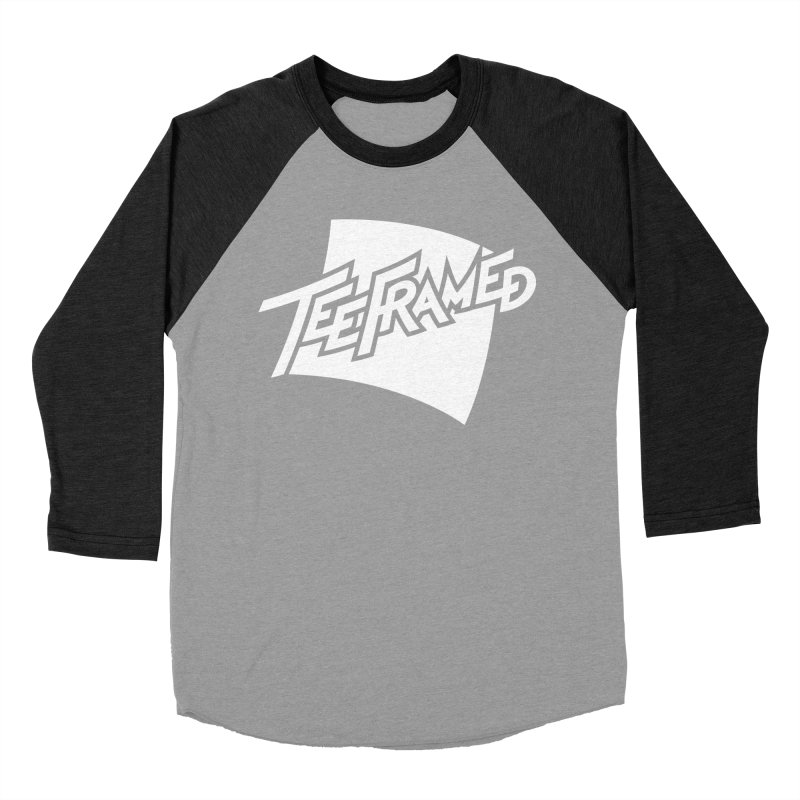 Teeframed - White Logo Women's Baseball Triblend T-Shirt by Teeframed