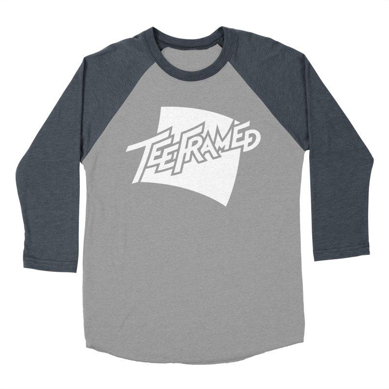 Teeframed - White Logo Women's Baseball Triblend Longsleeve T-Shirt by Teeframed