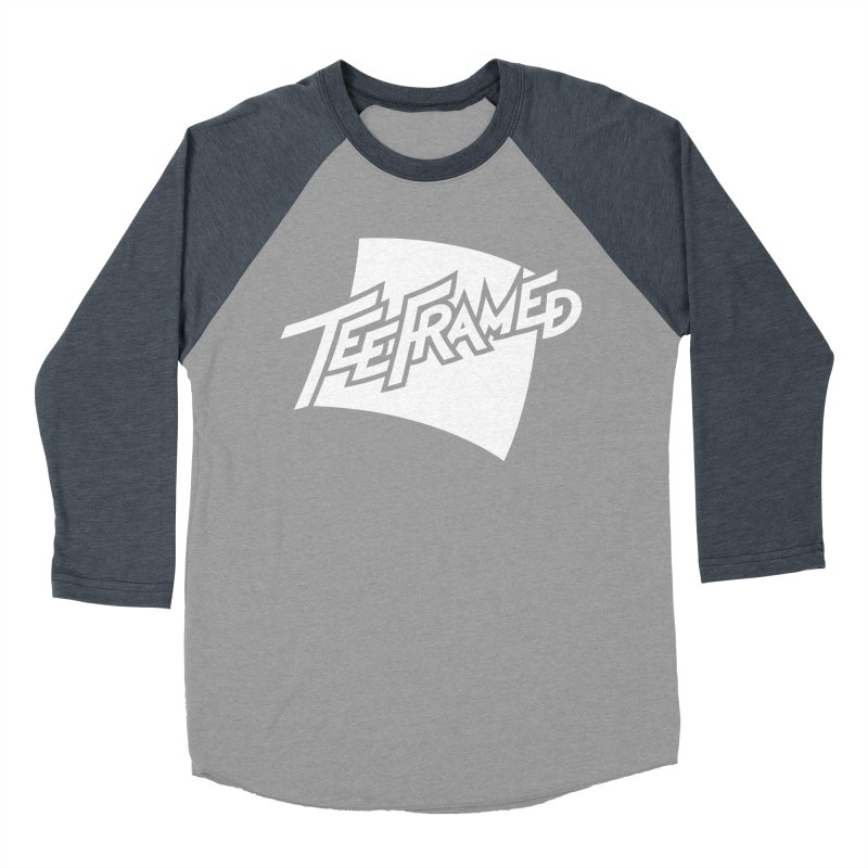 Teeframed - White Logo Men's Baseball Triblend Longsleeve T-Shirt by Teeframed
