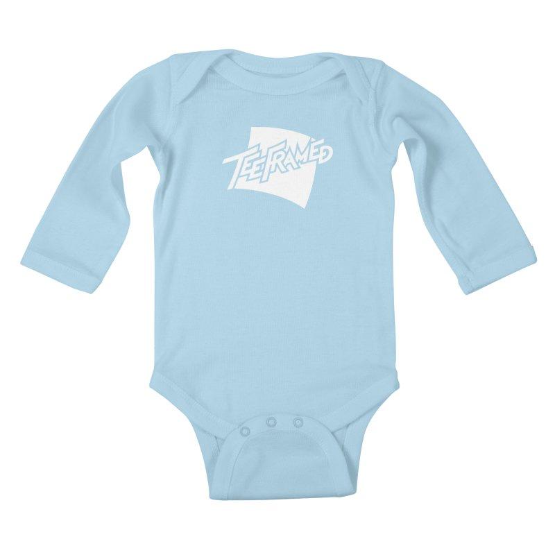 Teeframed - White Logo Kids Baby Longsleeve Bodysuit by Teeframed