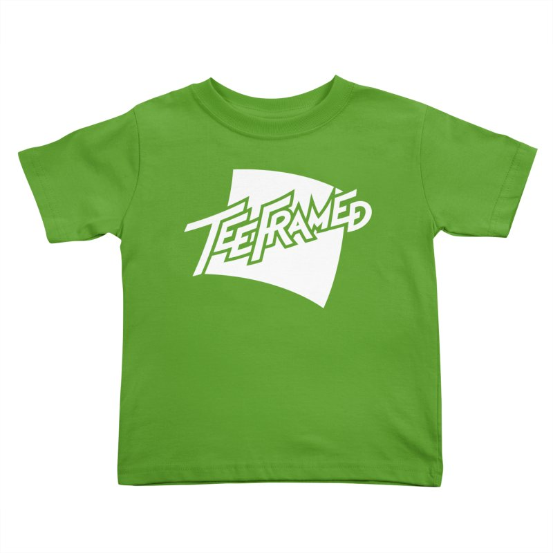 Teeframed - White Logo Kids Toddler T-Shirt by Teeframed