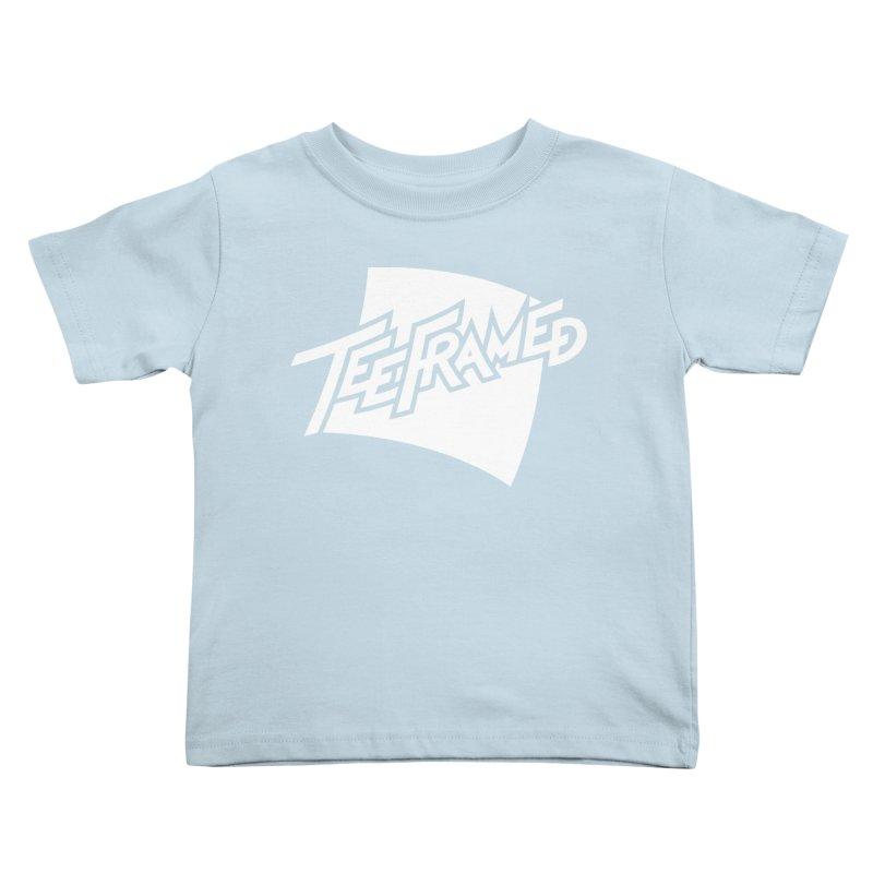 Teeframed - White Logo Kids Toddler T-Shirt by Teeframed