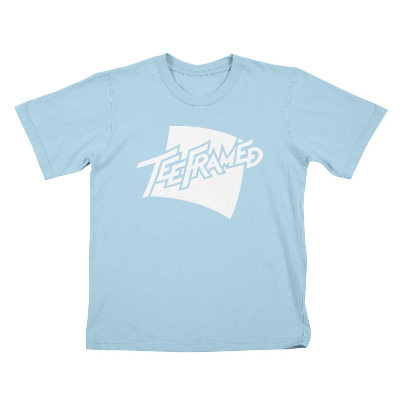 Teeframed - White Logo Kids T-Shirt by Teeframed