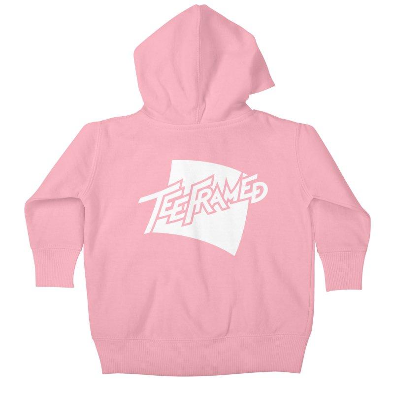 Teeframed - White Logo Kids Baby Zip-Up Hoody by Teeframed
