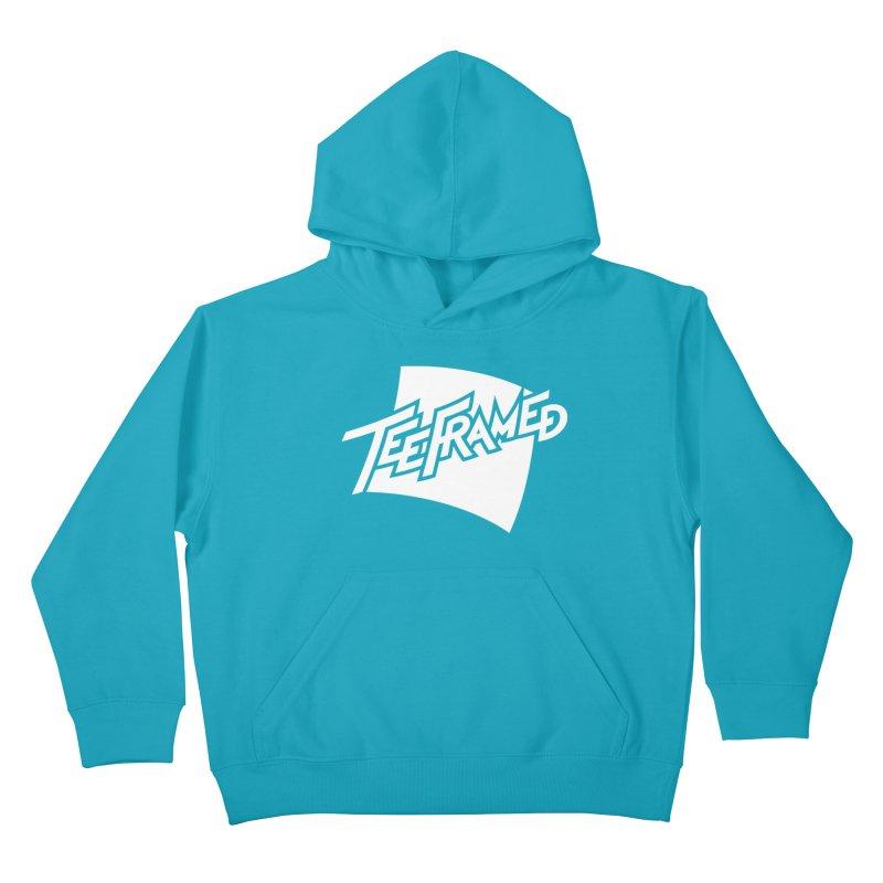 Teeframed - White Logo Kids Pullover Hoody by Teeframed