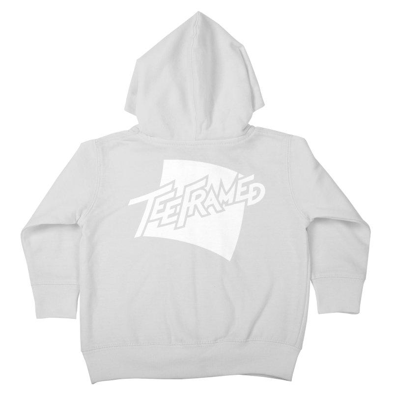 Teeframed - White Logo Kids Toddler Zip-Up Hoody by Teeframed