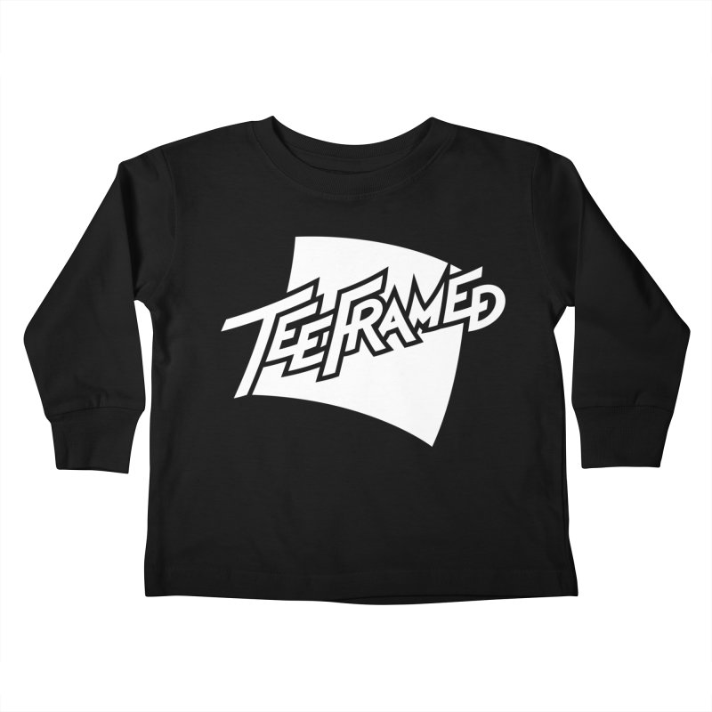 Teeframed - White Logo Kids Toddler Longsleeve T-Shirt by Teeframed