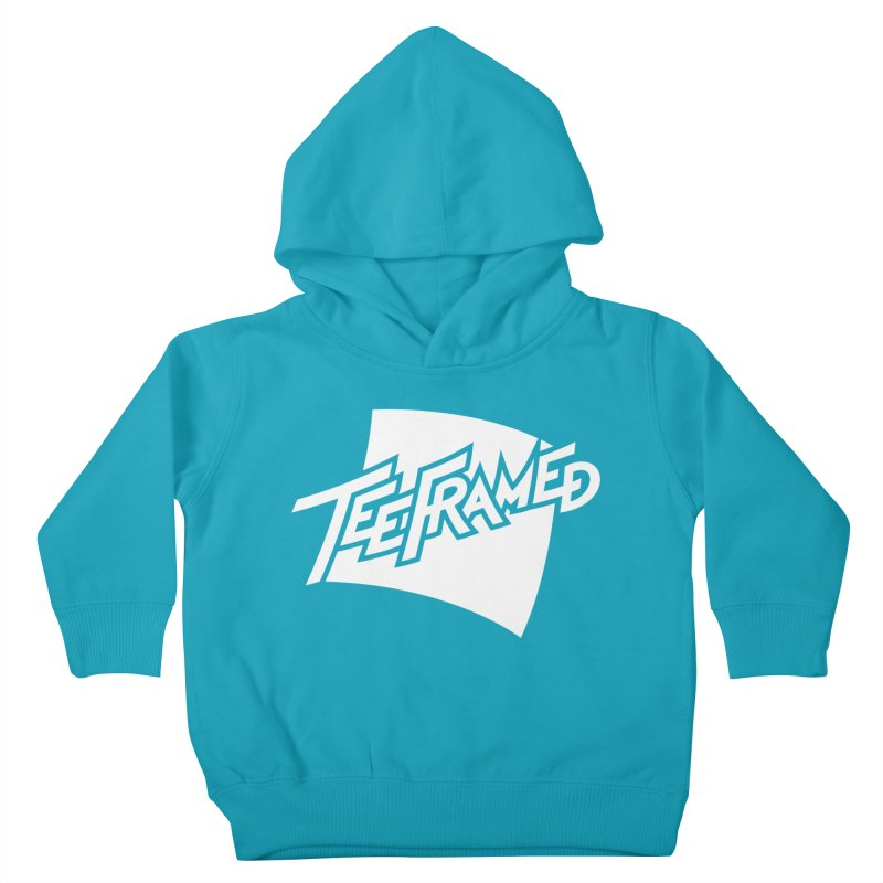 Teeframed - White Logo Kids Toddler Pullover Hoody by Teeframed