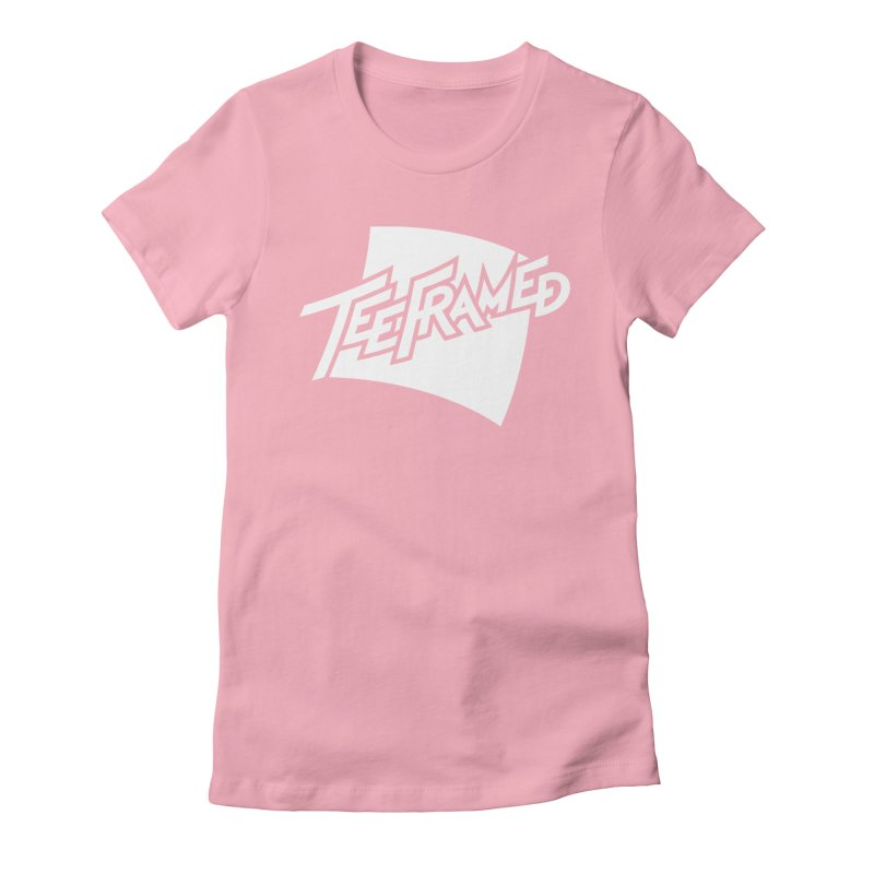 Teeframed - White Logo Women's Fitted T-Shirt by Teeframed