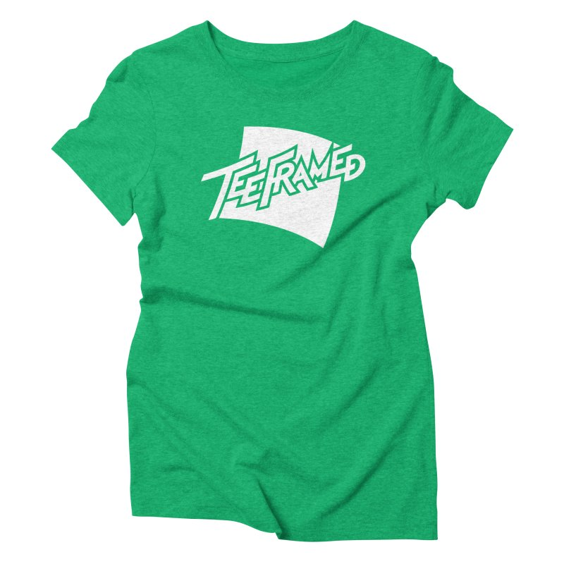 Teeframed - White Logo Women's Triblend T-Shirt by Teeframed