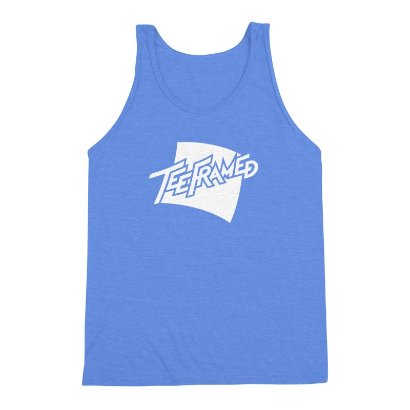 Teeframed - White Logo Men's Triblend Tank by Teeframed