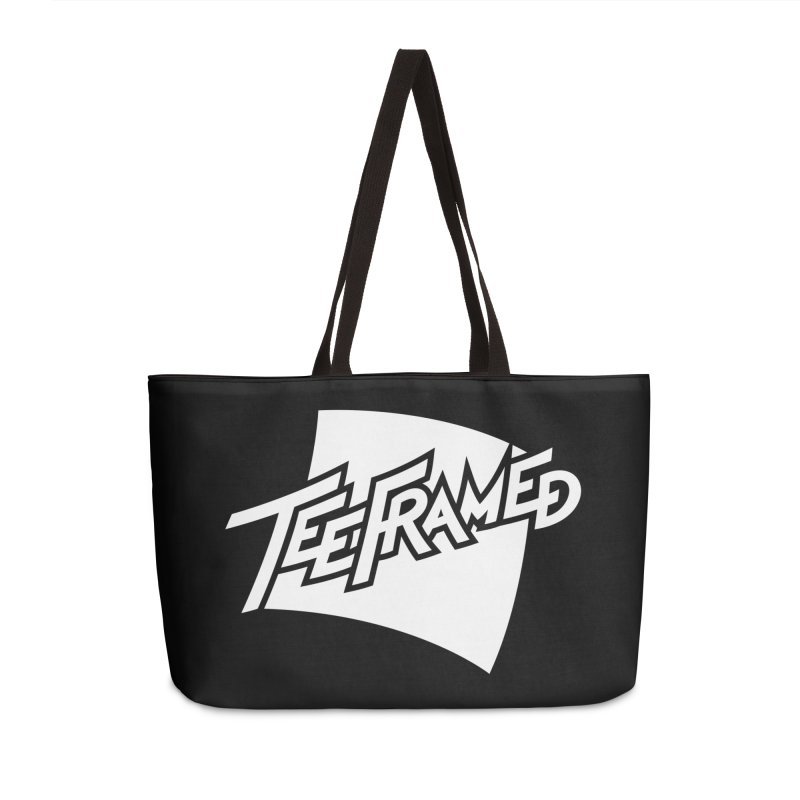 Teeframed - White Logo Accessories Weekender Bag Bag by Teeframed