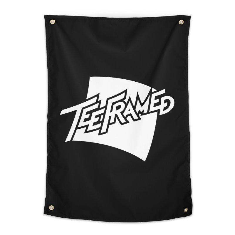 Teeframed - White Logo Home Tapestry by Teeframed