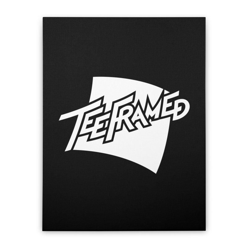 Teeframed - White Logo Home Stretched Canvas by Teeframed