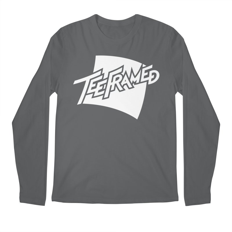 Teeframed - White Logo Men's Longsleeve T-Shirt by Teeframed