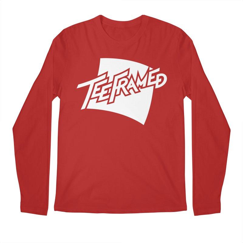 Teeframed - White Logo Men's Longsleeve T-Shirt by Teeframed