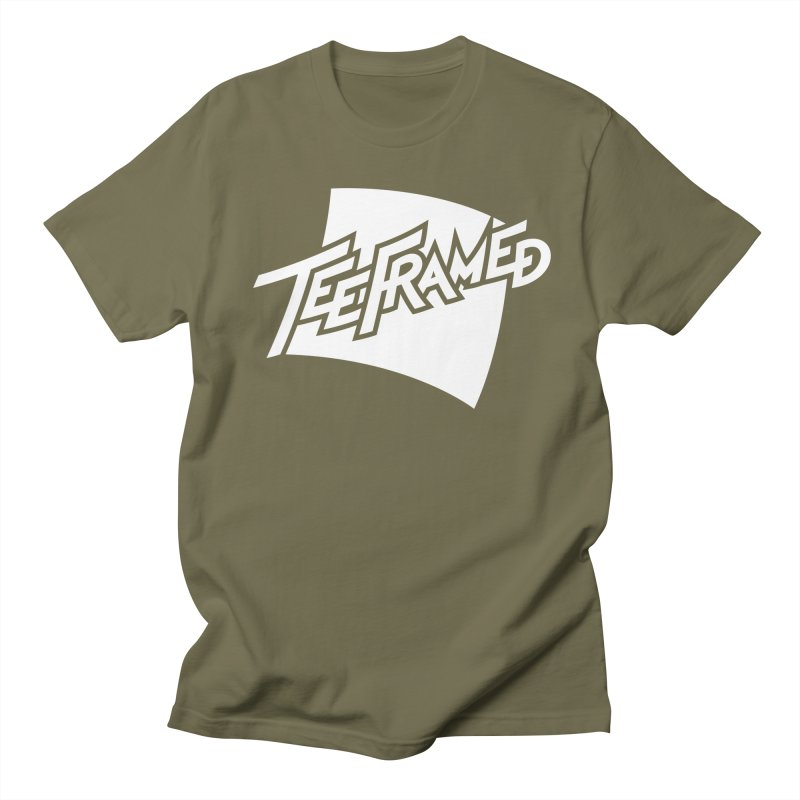 Teeframed - White Logo Men's T-Shirt by Teeframed