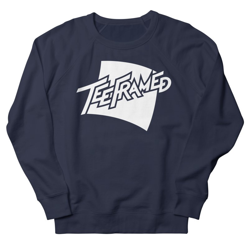 Teeframed - White Logo Men's Sweatshirt by Teeframed
