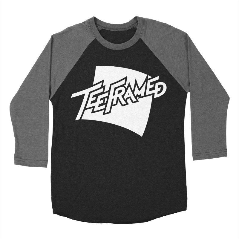 Teeframed - White Logo Men's Baseball Triblend T-Shirt by Teeframed