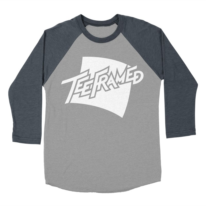 Teeframed - White Logo Men's Baseball Triblend T-Shirt by Teeframed