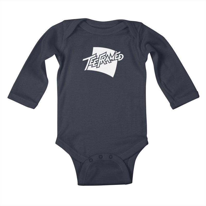 Teeframed - White Logo Kids Baby Longsleeve Bodysuit by Teeframed
