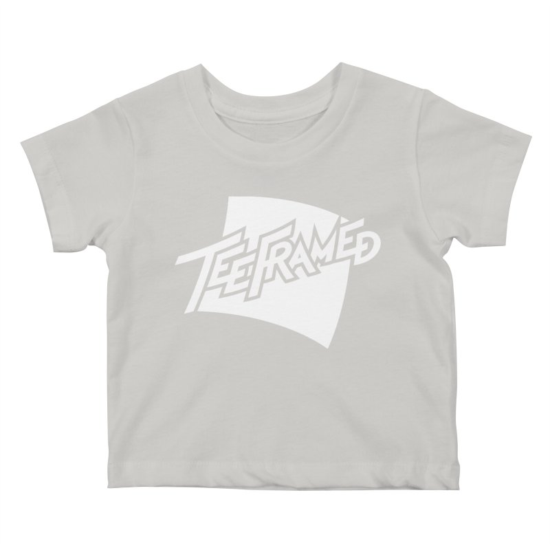 Teeframed - White Logo Kids Baby T-Shirt by Teeframed