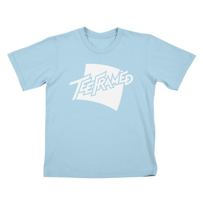 Teeframed - White Logo Kids T-shirt by Teeframed