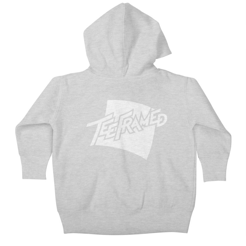 Teeframed - White Logo Kids Baby Zip-Up Hoody by Teeframed