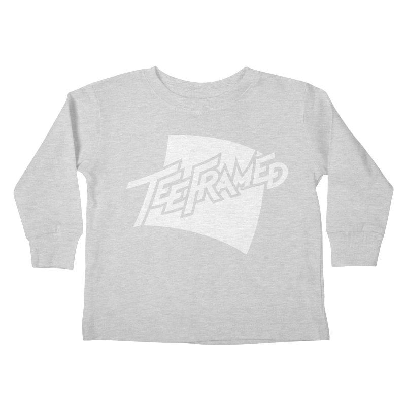 Teeframed - White Logo Kids Toddler Longsleeve T-Shirt by Teeframed