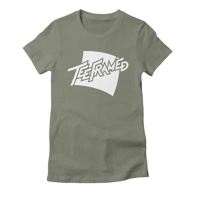 Teeframed - White Logo Women's Fitted T-Shirt by Teeframed