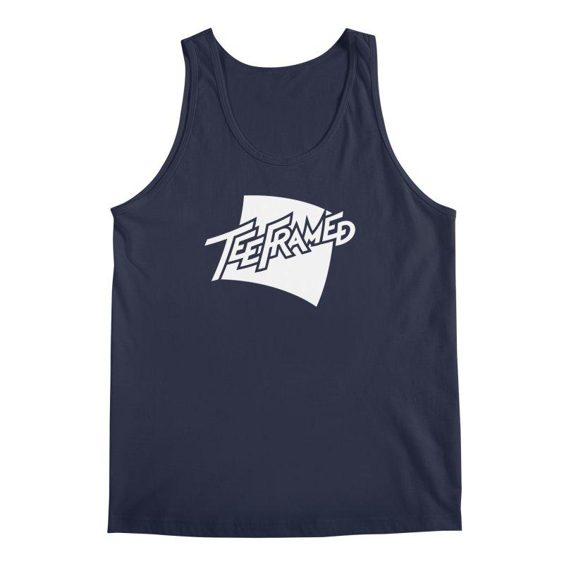 Teeframed - White Logo Men's Tank by Teeframed