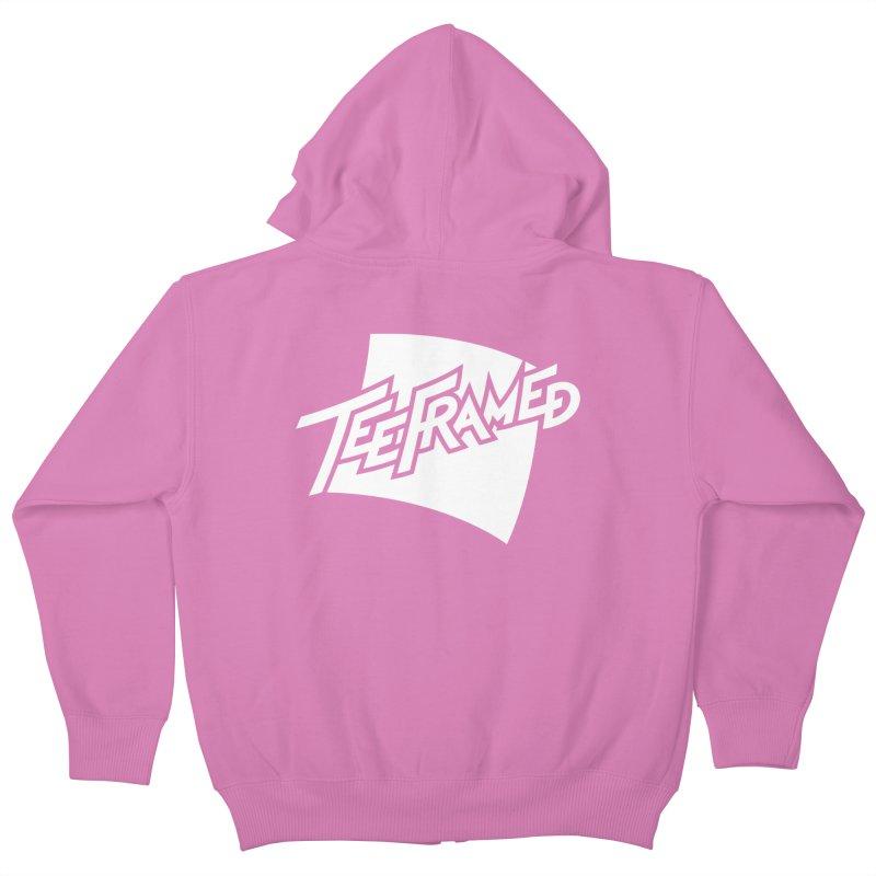 Teeframed - White Logo Kids Zip-Up Hoody by Teeframed