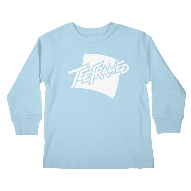 Teeframed - White Logo Kids Longsleeve T-Shirt by Teeframed