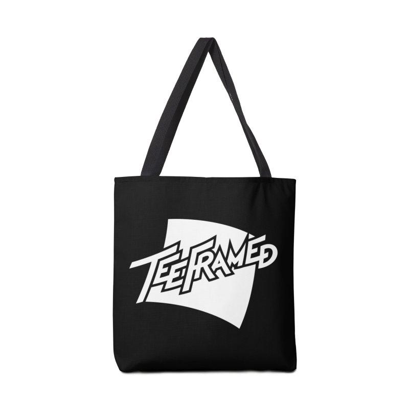 Teeframed - White Logo Accessories Bag by Teeframed