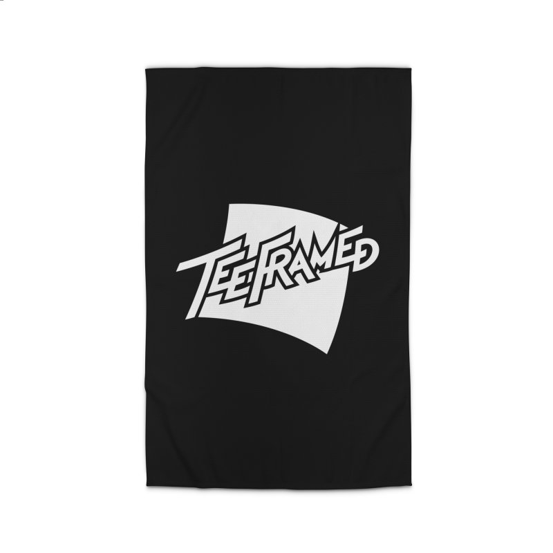 Teeframed - White Logo Home Rug by Teeframed