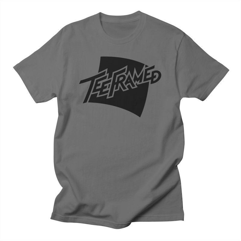 Teeframed - Black Logo Men's T-Shirt by Teeframed