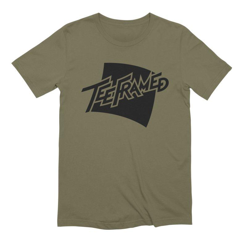 Teeframed - Black Logo Men's Extra Soft T-Shirt by Teeframed