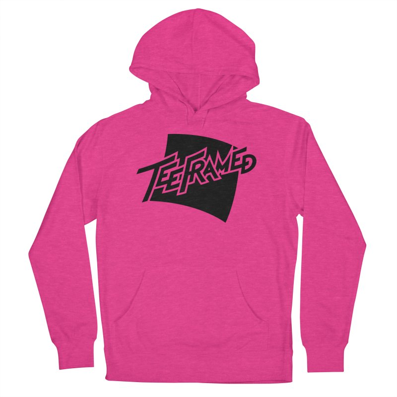 Teeframed - Black Logo Women's French Terry Pullover Hoody by Teeframed