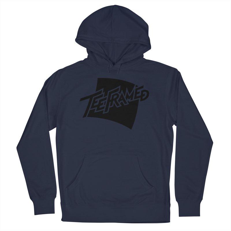 Teeframed - Black Logo Men's French Terry Pullover Hoody by Teeframed
