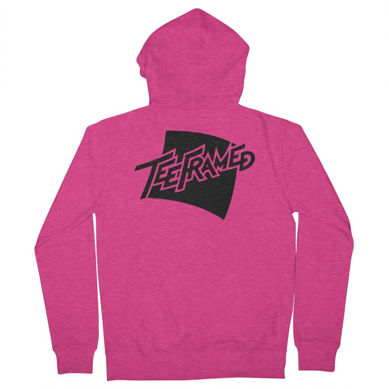 Teeframed - Black Logo Women's French Terry Zip-Up Hoody by Teeframed