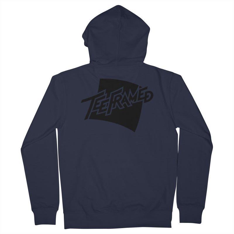 Teeframed - Black Logo Women's Zip-Up Hoody by Teeframed