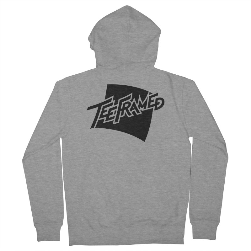 Teeframed - Black Logo Men's Zip-Up Hoody by Teeframed