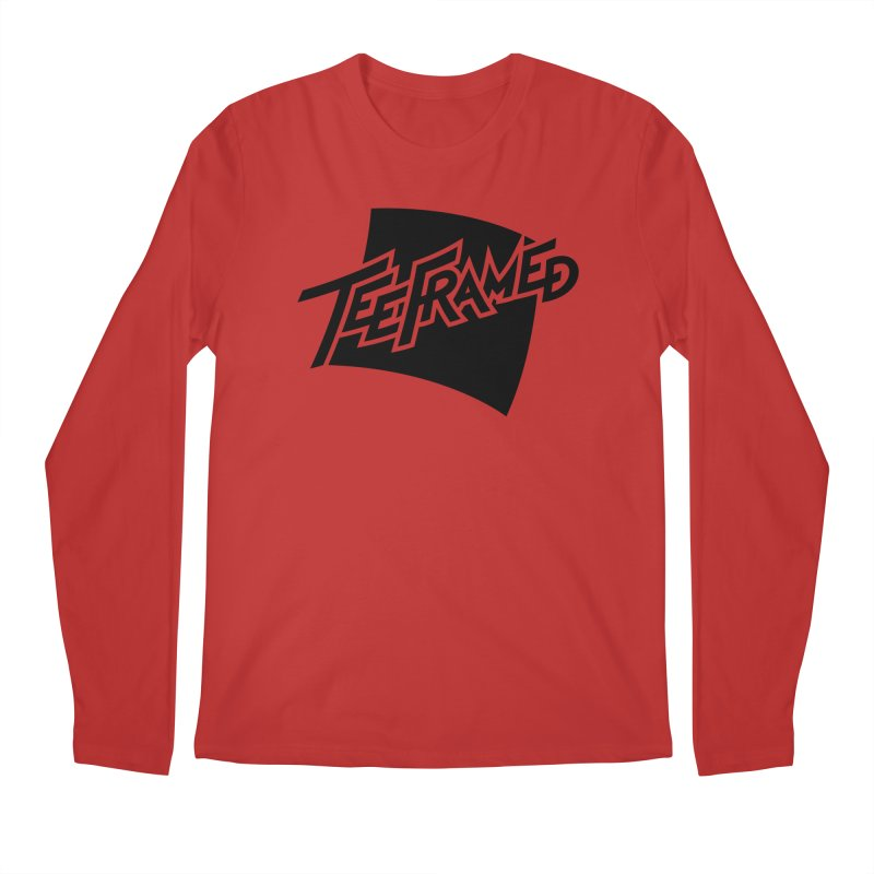 Teeframed - Black Logo Men's Regular Longsleeve T-Shirt by Teeframed